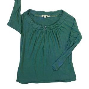 Boden Green Long Sleeve Viscose T-Shirt Green Sz 6